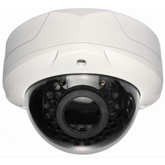 Camera IP Dome hình cầu trong nhà  HD Varifocal lens 30 leds