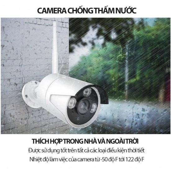 Bộ Kit Camera giám sát XMEYE 2.0 ngoài trời Full HD kèm Đầu ghi không dây Wifi