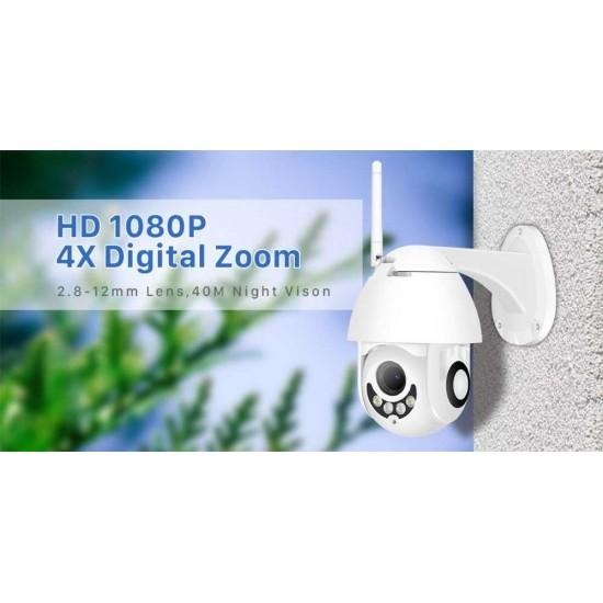 Camera ngoài trời Full HD 4X Zoom PTZ Speed dome Wifi không dây, hỗ trợ Onvif